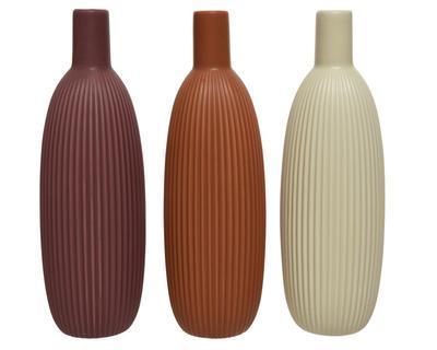 Váza, 25,5cm, 3 druhy, porcelán, Kaemingk