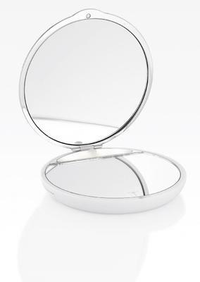 Zrcátko do kapsy kosmetické CHROMELINE 9 cm - chrom/bílý, JOOP!