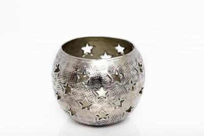 Svícen na čajovou svíčku STAR CUT 10 cm, Sifcon