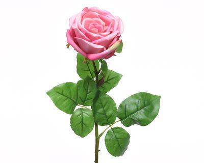 Květina RŮŽE KVĚT XL 68 cm - sv. růžová, Kaemingk