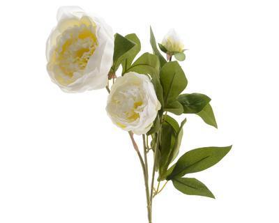 Květina PIVOŇKA 75 cm - smetanová, Kaemingk