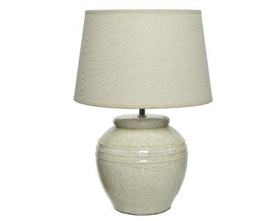 Lampa stolní CRACKLE 37x54 cm - bílá, Kaemingk