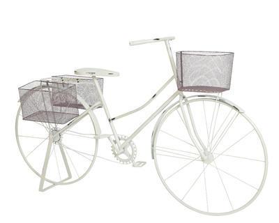 Kolo s košíky BIKE VINTAGE 163 cm - bílá, Kaemingk