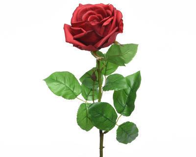 Květina RŮŽE KVĚT XL 68 cm - červená, Kaemingk
