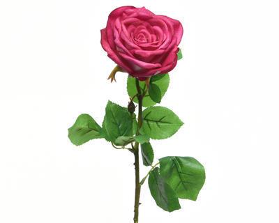 Květina RŮŽE KVĚT XL 68 cm - fuchsiová, Kaemingk