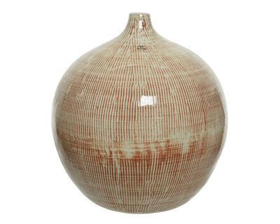 Váza, 33cm, cihlovo/bílá, Kaemingk