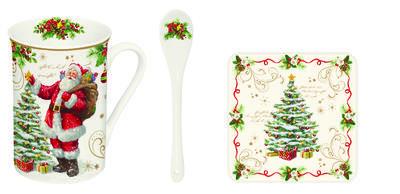 Vánoční set 3ks - Hrnek & lžička & podtácek MAGIC CHRISTMAS 250 ml, Easy Life - 1