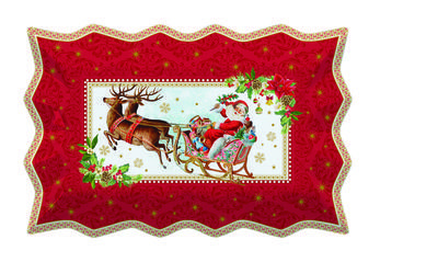 Vánoční podnos servírovací VINTAGE XMAS 35x23 cm, Easy Life - 1