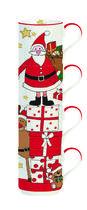 Vánoční set 4ks - Hrnky stohovatelné SANTA & FRIENDS 275 ml, Easy Life - 1/2