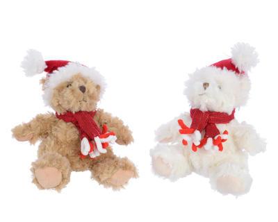 Vánoční dekorace - Hračka Medvídek s čepicí 18 cm, Kaemingk