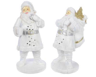 Vánoční dekorace - Santa se sušenkou - bílý, Kaemingk