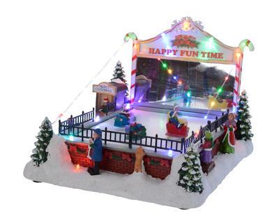 Vánoční dekorace LED - Vánoční radovánky 27,5x22,5x19 cm, Kaemingk