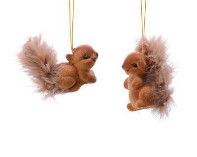Vánoční ozdoba - Veverka 7,5cm - hnědá, Kaemingk