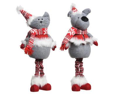 Vánoční dekorace - Pejsek / Kočička stojící - 55 cm, Kaemingk