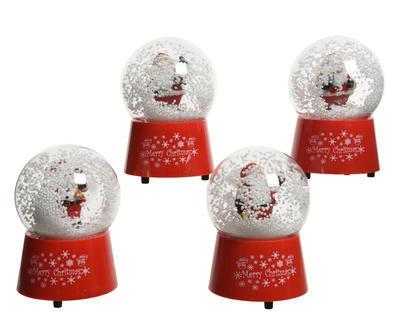 """Vánoční dekorace - Sněžítko """"Santa"""" 9,5x14,8 cm, Kaemingk"""