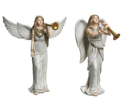 Vánoční dekorace - Anděl s trumpetou S - 15 cm, Kaemingk