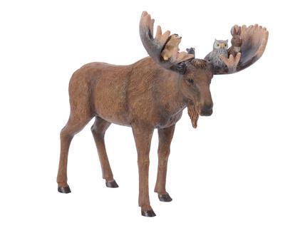 Vánoční dekorace - Los se zvířátky 12x24,2x19 cm, Kaemingk