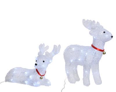 Vánoční dekorace LED - Sob ležící/stojící, Kaemingk