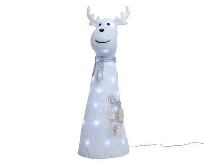 Vánoční dekorace LED - Sob se šálou 28x31x75 cm, Kaemingk