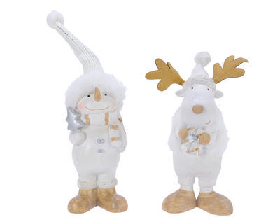 Vánoční dekorace - Sněhulák/Sob 18 cm, Kaemingk