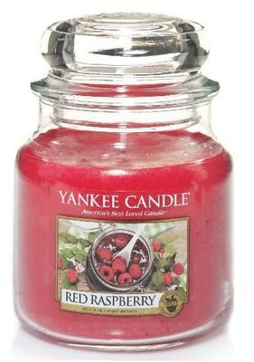 Svíčka Red Raspberry - sklo č.2, Yankee Candle
