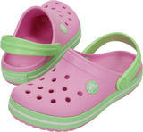 Boty CROCBAND KIDS J1 carnation/green clow, Crocs - 1/6