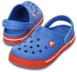 Boty CROCBAND II.5 CLOG KIDS C10/11 varsity blue/red, Crocs - 1/2