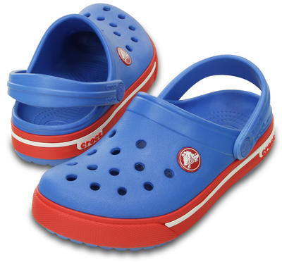 Boty CROCBAND II.5 CLOG KIDS J2 varsity blue/red, Crocs