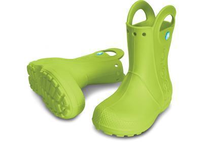 Holínky HANDLE IT RAIN BOOT KIDS C11 volt green, Crocs - 1