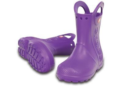 Holínky HANDLE IT RAIN BOOT KIDS J3 neon purple, Crocs - 1