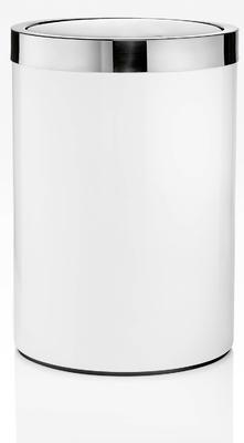 Koš odpadkový CHROMELINE 26x18 cm - chrom/bílý, JOOP!