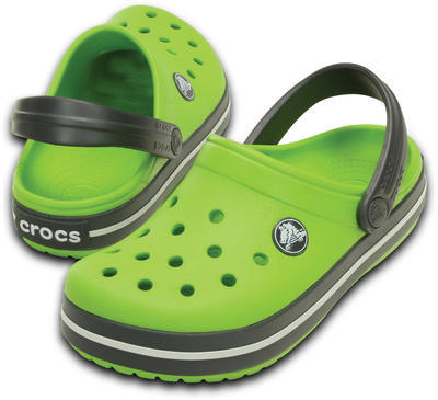 Boty CROCBAND KIDS C6/7 volt green/graphite, Crocs - 1