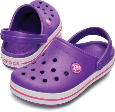 Boty CROCBAND KIDS C6/7 neon purple/neon magenta, Crocs - 1