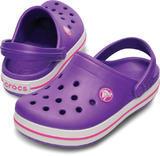 Boty CROCBAND KIDS C6/7 neon purple/neon magenta, Crocs - 1/7