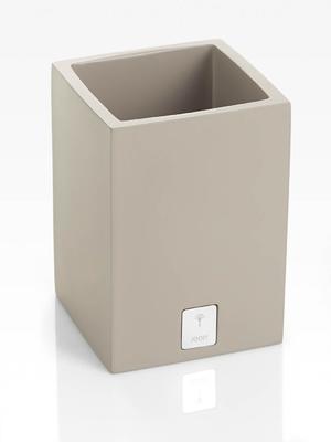 Nádoba čtvercová BATHLINE 7,5x11x7,5 cm - šedá, JOOP!