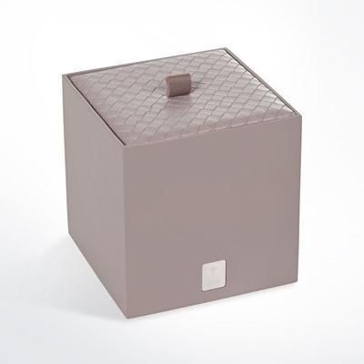 Zásobník s víkem BATHLINE 11x11x11 cm - šedý, JOOP!