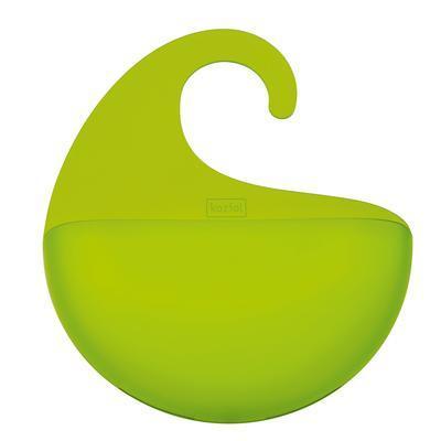 Držák koupelnový SURF XL - transp. zelená, Koziol - 1