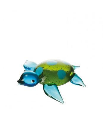 Dekorace Želva MARE - modro-zelená, Leonardo
