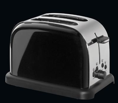 Toaster na dva plátky RETRO - černý, Cilio - 1