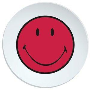 Talíř jídelní SMILEY 25 cm - grapefruit/bílá, Zak!