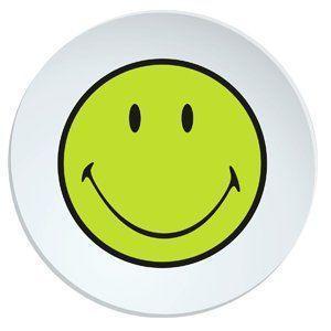 Talíř jídelní SMILEY 25 cm - zelená/bílá, Zak!