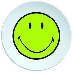 Talíř hluboký SMILEY 20 cm - zelená/bílá, Zak!