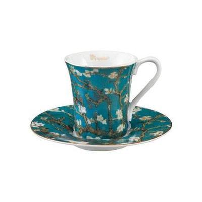 Šálek a podšálek espresso ARTIS ORBIS V. van Gogh - Almond Tree - 100 ml, Goebel