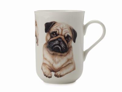 Hrnek Dog Pug CASHMERE PETS 300 ml, Maxwell & Williams