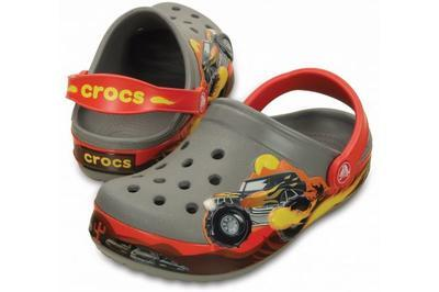 Boty CROCBAND MONSTER TRUCK CLOG KIDS C10 smoke, Crocs - 1