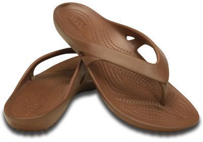 Žabky WOMEN'S KADEE II FLIP W6 bronze, Crocs - 1