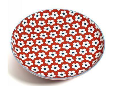 Talíř mělký COTTON BUD 23 cm - červená, MW Christopher Vine