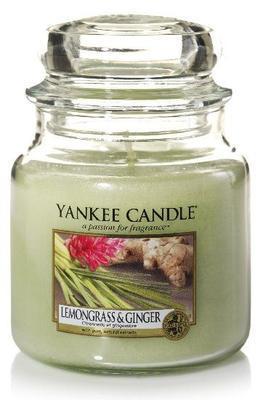 Svíčka Lemongrass & Ginger - sklo č.2, Yankee Candle