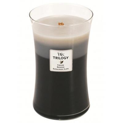 Svíčka vonná TRILOGY - Hřejivé dřevo - 609,5 g, WoodWick - 1