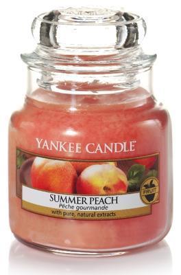 Svíčka Summer Peach - sklo č.1, Yankee Candle